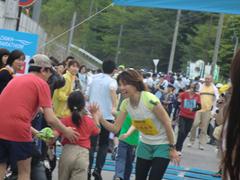 ハーフマラソン Qちゃん.JPG